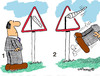 Cartoon: Road Signs 6 (small) by EASTERBY tagged road works signs
