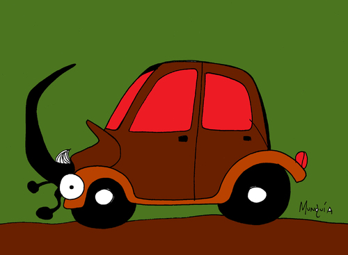 Cartoon: Beattle (medium) by Munguia tagged beattle,volskwagen,car,bug,munguia