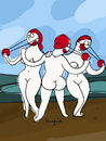 Cartoon: 3 funnies (small) by Munguia tagged clown,graces,rafael,red,nose,parody