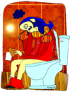 Cartoon: actor sin papel (small) by Munguia tagged toilet,paper,actor,role,wc,inodoro,shakespiere,munguia,costa,rica,teatro
