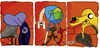 Cartoon: Adventure Time (small) by Munguia tagged fan art francis bacon adventure time marceline finn jake dog human three studies for figures at the base of crucifixion