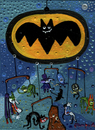Cartoon: BatMovil (small) by Munguia tagged batman,batmovil,batomobil,villians,joker,bane,pinguin,riddler,catwoman,faced,poison,ivy