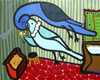 Cartoon: Budgies Love (small) by Munguia tagged budgies love kiss birthday marc chagall parody painting costa rica humor grafico munguia periquitos de amor