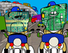 Cartoon: Chips (small) by Munguia tagged chips,poncharello,erick,estrada,motorcycle,police,street,highway,cops,tv,series,70s,munguia,costa,rica,humor,grafico