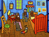 Cartoon: Cuarto de Pilas (small) by Munguia tagged van,gogh,room,the,batarias,cuarto,de,pilas,munguia,pintura,calcamunguias,parodias,pinturas,famosas