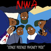 Cartoon: EENIE MEENEI MINEY MOE (small) by Munguia tagged nwa,cover,album,eazy,ice,cube,dr,dre,straight,outta,compton,parody,spoof,mash,up