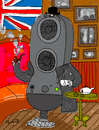 Cartoon: English Speaker (small) by Munguia tagged english,speaker,music,lenguage,pub,tea,pipe,munguia,calcamunguias,costa,rica