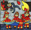 Cartoon: Fire women (small) by Munguia tagged the,straw,manikin,el,pelele,francisco,de,goya,famous,paintings,parodies,spoof,art,classic,fine,paints,picture,cartoon