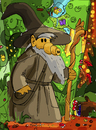 Cartoon: Gand Alf (small) by Munguia tagged gandalf,lord,of,the,rings,alf,alien,80s,tolkien,parody,wordplay