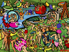 Cartoon: Garden of earthly delights (small) by Munguia tagged bosch,el,bosco,garden,of,earthy,delights,nude,naked,famous,paintings,parodies