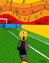 Cartoon: Goal! (small) by Munguia tagged scream soccer goal futball munch munguia edvard parody