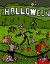 Cartoon: Halloween (small) by Munguia tagged hollywood,billboard,montain,zombies,halloween,living,dead,decay,death,cementery,thriller,movie,munguia,costa,rica,humor,grafico,caricatura,muertos,zombis