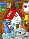 Cartoon: Home Sick (small) by Munguia tagged homesick,munguia
