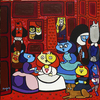 Cartoon: Las Mininas 2015 (small) by Munguia tagged diego,velazquez,las,meninas,mininas,kitten,gatos,gatas,cats,chats,spoof,famous,paintings,parodies,art,iconic,version