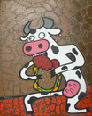 Cartoon: Mad Cow (small) by Munguia tagged mad,cow,vaca,loca,goya,munguia,costa,rica