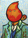 Cartoon: ManGogh (small) by Munguia tagged van,gogh,self,portrait,munguia,mango,costa,rica,parody,parodias,pinturas,famosas,famous,paint,art,collection