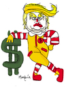 Cartoon: McDonaldTrump Hambourgeois clown (small) by Munguia tagged donald,trump,mcdonalds,clown