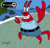 Cartoon: Mr Krabs (small) by Munguia tagged the,prodigy,fat,of,land,crabs,rock,album,parody,cover,disc