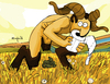 Cartoon: Natural Way (small) by Munguia tagged satyr,satiro
