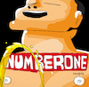 Cartoon: Number One (small) by Munguia tagged the,bends,radiohead,cover,album,parody,parodies,piss,spoof,version,funny,fun