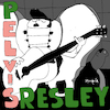 Cartoon: Pelvis Resley (small) by Munguia tagged elvis,presley,album,cover,parody,parodies,spoof,fun,version,pop,rock,music