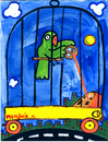 Cartoon: perico periferico (small) by Munguia tagged parrot,perico,lora,bird,cage