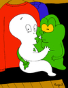 Cartoon: PolterGays (small) by Munguia tagged poltergeist,gays,casper,slimer,ghostbusters,ghost,tv,closet