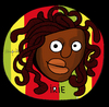 Cartoon: Rasta Head (small) by Munguia tagged medusa,head,caravaggio,irie,rasta,horror,parody