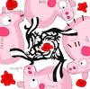 Cartoon: Red Hot Chili Peppa (small) by Munguia tagged blood,sugar,sex,magic,red,hot,chili,peppers,peppa,cover,album,parodies,parody,spoof,version,funny