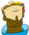 Cartoon: Saintwich (small) by Munguia tagged sandwich,food,saint,soda,munguia,costa,rica