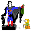 Cartoon: Superman Brand new cape (small) by Munguia tagged apollo,greek,oil,mexico,golf,munguia