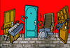 Cartoon: The Doors (small) by Munguia tagged the doors la woman jim morrison music rock 70s