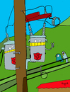 Cartoon: Transformers (small) by Munguia tagged electric,transformer,urban,post,pole,munguia,transformador,electrico,urbano,costa,rica,humor,grafico,tico,caricatura,parodia,robots,tech