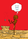 Cartoon: Wishing Well (small) by Munguia tagged thirst water well wish wishing better pozo agua hunger africa desert drought munguia costa rica humor grafico caricatura
