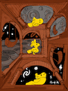 Cartoon: Woodstock (small) by Munguia tagged mc,escher,another,world,peanuts,charlie,brown,schulz
