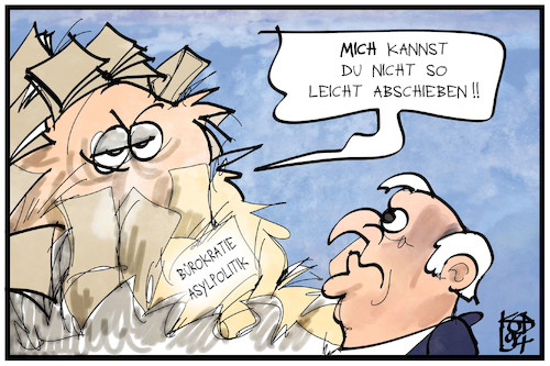 Cartoon: Abschiebegesetz (medium) by Kostas Koufogiorgos tagged karikatur,koufogiorgos,illustration,cartoon,seehofer,abschiebung,bürokratie,asylpolitik,papier,monster,berg,karikatur,koufogiorgos,illustration,cartoon,seehofer,abschiebung,bürokratie,asylpolitik,papier,monster,berg