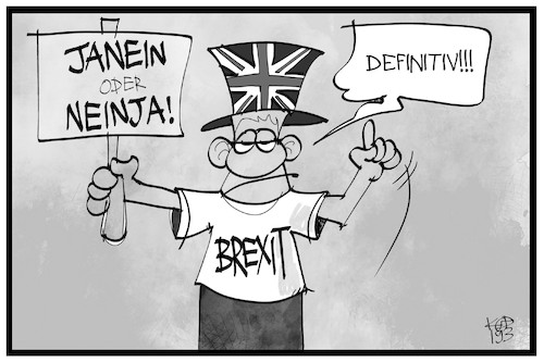 Cartoon: Brexit definitiv (medium) by Kostas Koufogiorgos tagged karikatur,koufogiorgos,illustration,cartoon,brexit,entscheidung,ja,neiun,eu,europa,grossbritannien,karikatur,koufogiorgos,illustration,cartoon,brexit,entscheidung,ja,neiun,eu,europa,grossbritannien