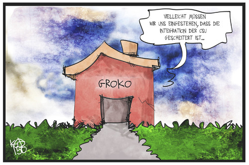 Cartoon: CSU in der GroKo (medium) by Kostas Koufogiorgos tagged karikatur,koufogiorgos,illustration,cartoon,csu,groko,regierung,koalition,spd,cdu,union,haus,integration,flüchtlingspolitik,partei,seehofer,karikatur,koufogiorgos,illustration,cartoon,csu,groko,regierung,koalition,spd,cdu,union,haus,integration,flüchtlingspolitik,partei,seehofer