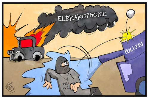 Cartoon: Elbkakophonie (medium) by Kostas Koufogiorgos tagged karikatur,koufogiorgos,illustration,cartoon,hamburg,elbphilharmonie,elbkakophonie,g20,polizei,demonstration,protest,gewalt,demonstrant,karikatur,koufogiorgos,illustration,cartoon,hamburg,elbphilharmonie,elbkakophonie,g20,polizei,demonstration,protest,gewalt,demonstrant