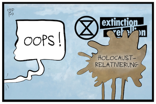 Cartoon: Extinction Rebellion (medium) by Kostas Koufogiorgos tagged karikatur,koufogiorgos,illustration,cartoon,holocaust,verharmlosung,shoah,roger,hallam,geschichte,relativierung,karikatur,koufogiorgos,illustration,cartoon,holocaust,verharmlosung,shoah,roger,hallam,geschichte,relativierung