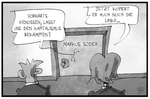 Cartoon: Markus Söder (medium) by Kostas Koufogiorgos tagged karikatur,koufogiorgos,illustration,cartoon,markus,söder,like,csu,genosse,partei,politik,karikatur,koufogiorgos,illustration,cartoon,markus,söder,like,csu,genosse,partei,politik