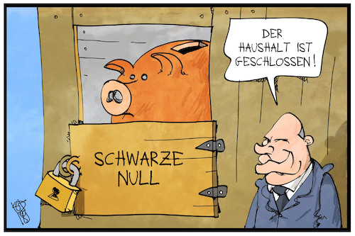 Cartoon: Sparhaushalt (medium) by Kostas Koufogiorgos tagged karikatur,koufogiorgos,illustration,cartoon,haushalt,stall,sparschwein,scholz,bundeshaushalt,geld,politik,karikatur,koufogiorgos,illustration,cartoon,haushalt,stall,sparschwein,scholz,bundeshaushalt,geld,politik