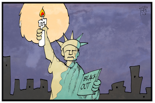 Cartoon: Stromausfall Manhattan (medium) by Kostas Koufogiorgos tagged karikatur,koufogiorgos,illustration,cartoon,manhattan,usa,strom,ausfall,kerze,miss,liberty,wahrzeichen,symbol,energie,blackout,karikatur,koufogiorgos,illustration,cartoon,manhattan,usa,strom,ausfall,kerze,miss,liberty,wahrzeichen,symbol,energie,blackout