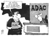 Cartoon: ADAC (small) by Kostas Koufogiorgos tagged illustration,karikatur,cartoon,koufogiorgos,adac,autoclub,verein,automobilclub,verkehr,doktorarbeit,dissertation,betrug,politik,mdb,politiker