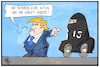 Cartoon: Autotausch (small) by Kostas Koufogiorgos tagged karikatur,illustration,cartoon,koufogiorgos,strafzölle,autos,is,tausch,burka,trump,terrorismus,sicherheit