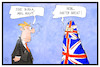 Cartoon: Brexit (small) by Kostas Koufogiorgos tagged karikatur,koufogiorgos,illustration,cartoon,brexit,may,grossbritannien,burka,radikal,flagge,fahne,union,jack,premierminsterin,politik,europa,abschottung