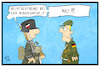 Cartoon: Bundeswehr (small) by Kostas Koufogiorgos tagged karikatur,koufogiorgos,illustration,cartoon,bundeswehr,rechtsextremismus,soldat,militär,politik,neonazi