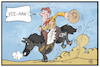 Cartoon: CDU-Rodeo (small) by Kostas Koufogiorgos tagged karikatur,koufogiorgos,illustration,cartoon,cdu,akk,kramp,karrenbauer,rodeo,reiten,vorsitz,partei