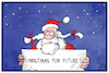 Cartoon: Christmas for Future! (small) by Kostas Koufogiorgos tagged karikatur koufogiorgos illustration cartoon weihnachten weihnachtsmann christmas future demonstration klima umwelt klimaschutz greta