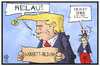 Cartoon: Donald Trump (small) by Kostas Koufogiorgos tagged karikatur,koufogiorgos,illustration,cartoon,trump,kabinett,usa,regierung,helau,karneval,fasching,politik